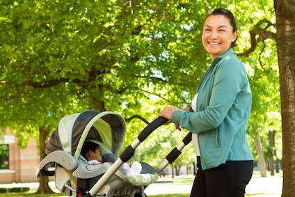 "What is the best type of exercise to ""get back into it"" after having a baby? image"